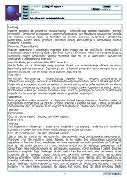 Voditelj: Radom pogona za pripremu industrijskog i komunalnog ...