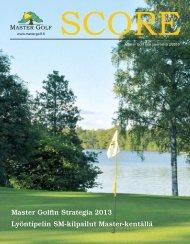 Master Golfin Strategia 2013 Lyöntipelin SM-kilpailut Master-kentällä