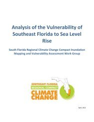 Analysis of the Vulnerability of Southeast Florida to Sea Level Rise