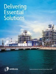 Download Summary Financial Report 2008 (PDF) - Sembcorp