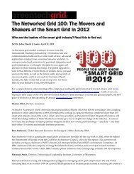 The Networked Grid 100: The Movers and Shakers of the Smart Grid ...