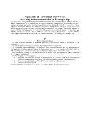 Regulations of 11 November 1991 No. 731 concerning ...