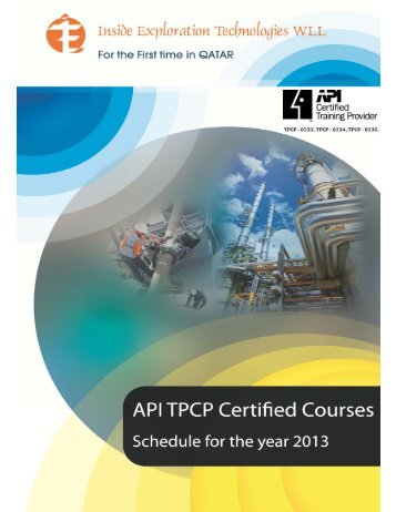 API Preparatory Course Schedule for the year 2013 ... - Iet-group.net