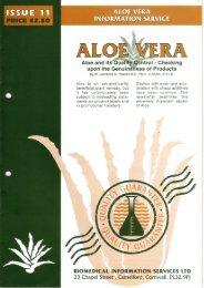 (1997, February). Aloe vera and its quality control - Desert Harvest
