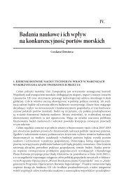 Badania naukowe i ich wpływ na konkurencyjność ... - PortalMorski.pl