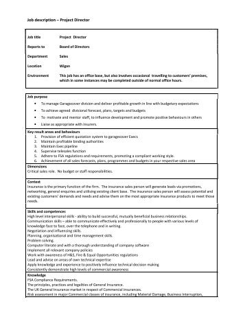 Project Director Job Description. Best 10+ Project Manager Cover ...