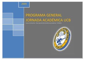 Descargar programa - Universidad Católica Boliviana