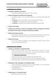 checkliste für einen vortrag (dauer: 10 minuten) hsg kaiserslautern ...