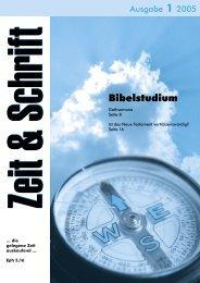 Heft 1/2005 - Zeit & Schrift