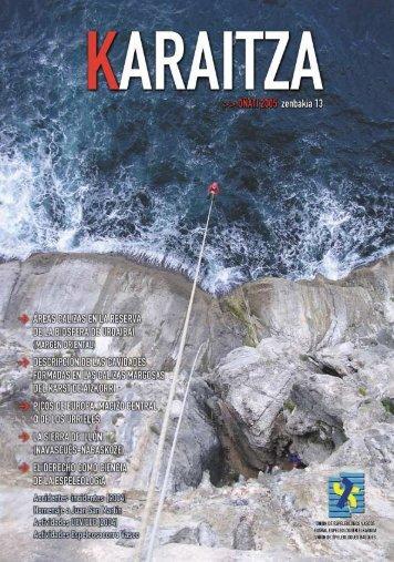 Revista Karaitza 13.pdf - Federación Navarra de Espeleología