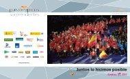 Juntos lo hicimos posible en pdf - Comité Paralímpico Español