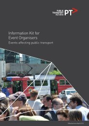 Information Kit for Event Organisers - Public Transport Victoria