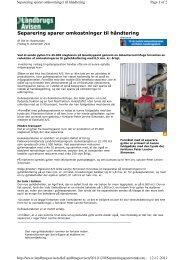 Separering sparer omkostninger til håndtering - GEA Westfalia ...