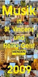 Musik in St. Vincenz und Heilig-Geist 2009 MENDEN