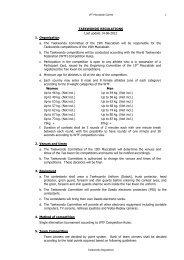 TAEKWONDO REGULATIONS Last update 14-06-2012 1 ...
