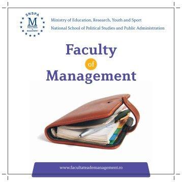 The Faculty of Management - Facultatea de Management