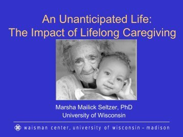The Wisconsin Longitudinal Study - School of Social Service ...