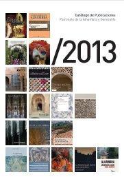 Catálogo de Publicaciones - Alhambra y Generalife
