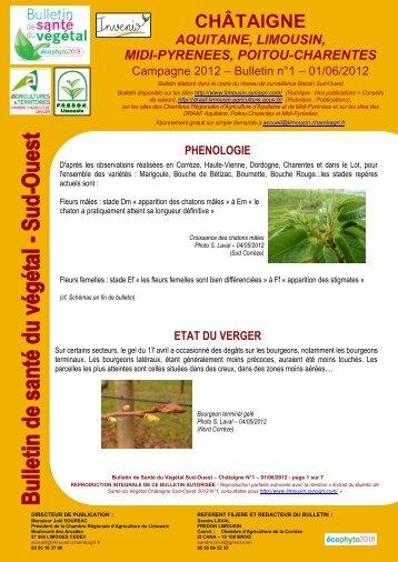 Bsv ch taigne n 6 bilan campagne 2012 draaf poitou charentes - Chambre agriculture poitou charentes ...