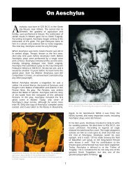 On Aeschylus - The Shakespeare Theatre Company