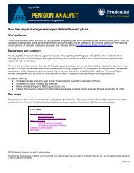New law impacts single-employer defined benefit plans - Prudential ...
