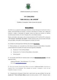 Regulamento 2013 - Câmara Municipal do Funchal
