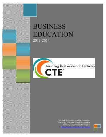 Business Education Program of Studies - Kentucky Department of ...