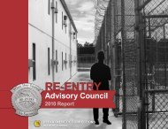 Re-Entry Advisory Council 2010 Report - Florida Department of ...
