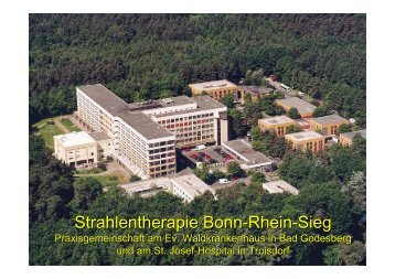 Strahlentherapie Bonn-Rhein-Sieg - Tumorzentrum Bonn eV