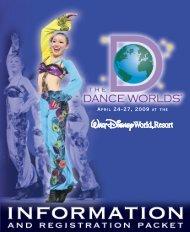 THE DANCE WORLDS PARTICIPANTS