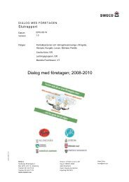 Slutrapport Dialog med företagen - GR