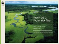 WWF-DEG Water risk filter - UN CEO Water Mandate