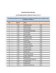 DPS MATHURA ROAD, NEW DELHI List Of Candidtes Applied For ...