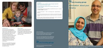 Information About Your tenancy - One Housing Group