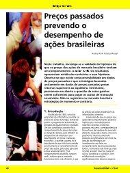 Preços passados prevendo o desempenho de ações brasileiras