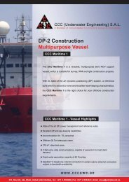 CCC Maritime 1 – DP2 MSV Specifications (PDF Format)