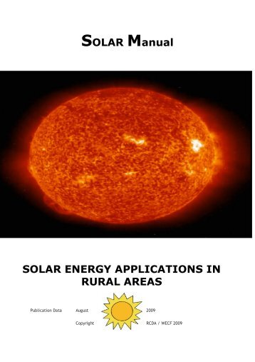 Applications of Solar Energy in Rural Areas - WECF