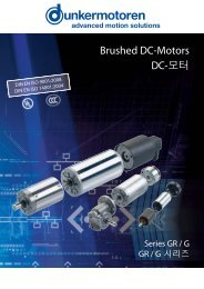 Brushed DC-Motors DC-모터 - Dunkermotoren
