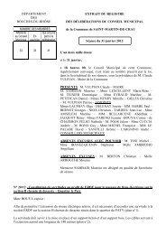 Constitution de servitudes au profit de ERDF pour le passage de ...