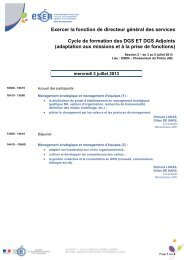 Programme de la session 2 du module 1