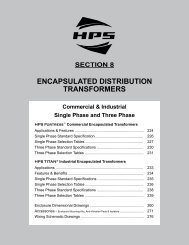 HPS Sentinel Features and Benefits Flyer - Hammond Power on