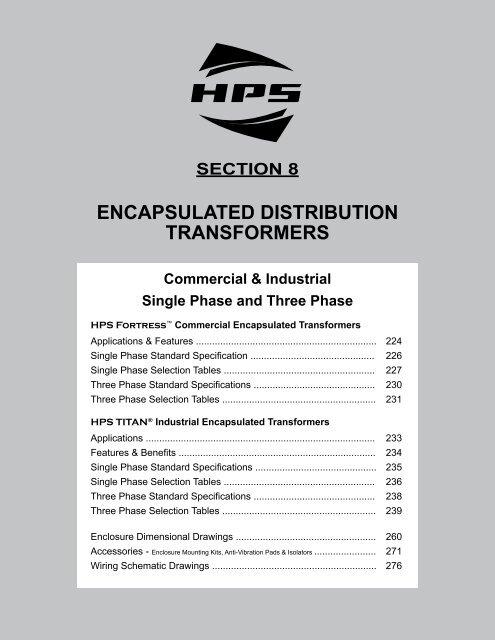 Encapsulated Dry-Type Distribution Transformers - Hammond ... on