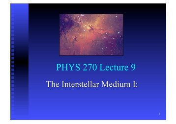 PHYS 270 Lecture 9