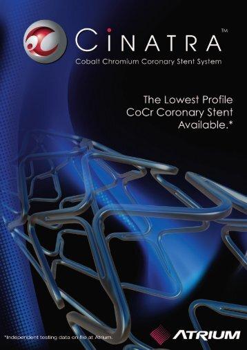 Cinatra A4 Brochure 0240B - Atrium Medical Corporation