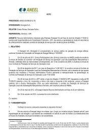 VOTO PROCESSOS: 48500.003366/2012-78 INTERESSADO - Aneel