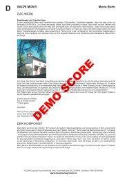 Sacri Monti Score - Musikverlag Frank