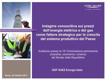 Documento depositato da GDF-Suez Energia Italia - Senato della ...