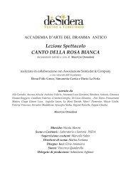 Lezione Spettacolo CANTO DELLA ROSA BIANCA - L'Eco di Bergamo