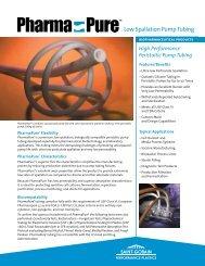 Low Spallation Pump Tubing - Professional Plastics
