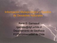 Información Meteorológica y Gestión de Desastres Naturales